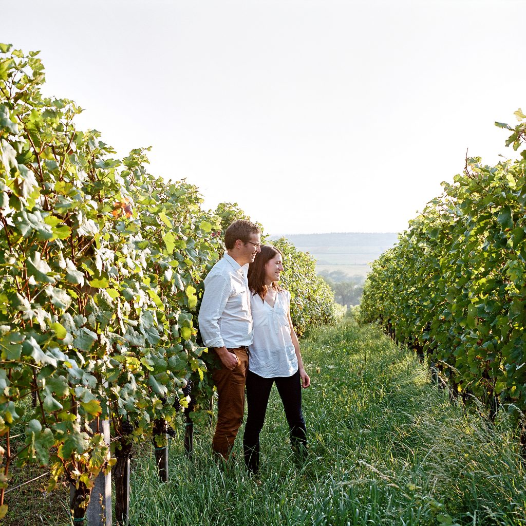 Franz and Petra in the vineyard courtesy Manfred Klimek